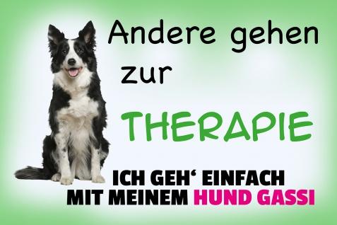 Blechschild Spruch Ich geh mit meinem Hund Gassi Metallschild Wanddeko 20x30 cm tin sign