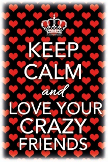 Keep Calm and Love Your Crazy Friends Blechschild 20x30 cm