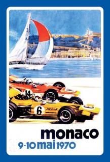 Nostalgie: Grand Prix Monaco 1970 Blechschild 20x30 cm