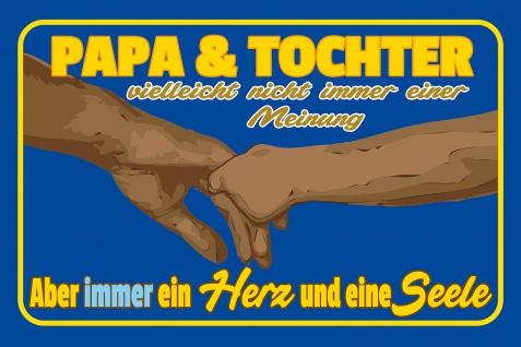 Blechschild Spruch Papa und Tochter Metallschild Wanddeko 20x30 cm tin sign