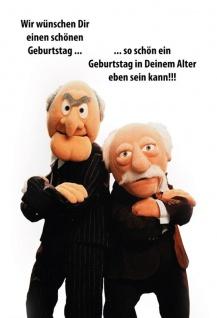 Waldorf Statler Muppets Wir Wunschen Dir Einen Schonen Geburtstag