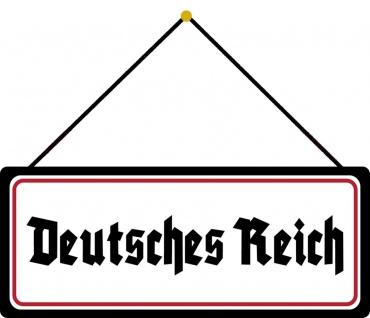 Schatzmix Blechschild Spruch Deutsches Reich Metallschild 27x10 cm Wanddeko mit Kordel