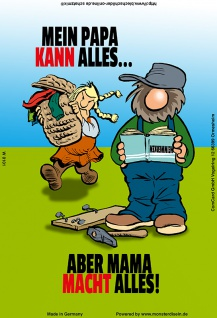 """ mein papa kann alles.."" blechschild, lustig, comic, metallschild"