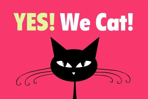 Yes! We Cat! Blechschild comic lustig kater