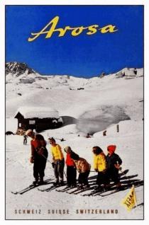 Nostalgie: Arosa Schweiz Blechschild 20x30 cm