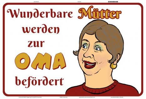 Blechschild Wunderbare Mütter werden Oma Metallschild Wanddeko 20x30 tin sign