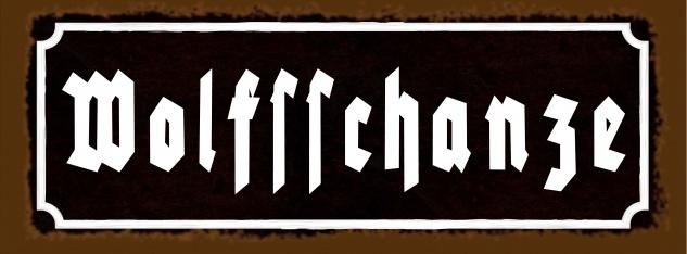 Blechschild Spruch Nostalgie Wolfsschanze Metallschild 27x10 cm Deko tin sign