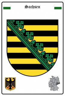 Blechschild Sachsen Wappen Metallschild Wanddeko 20x30 cm tin sign