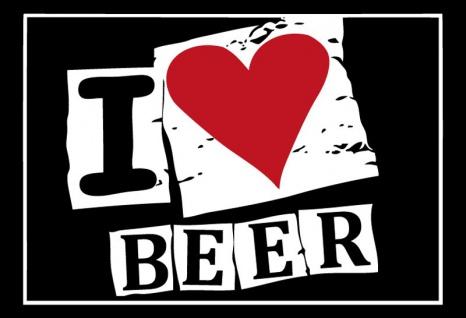 i love beer ich liebe bier blechschild