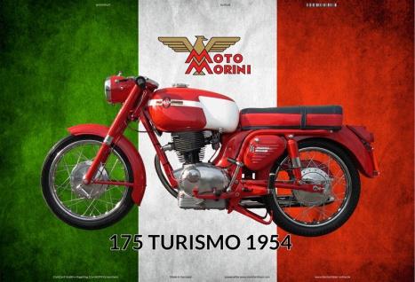 Moto Morini 175 Turismo 1954 italien motorrad blechschild
