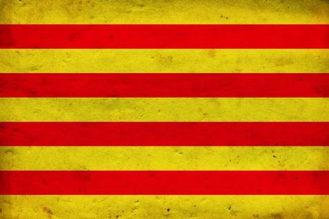 Calatan Flag, Katalan fahne länder flagge blechschild