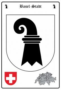 Basel-Stadt wappen blechschild