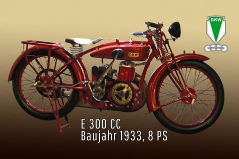 DKW E300 CC 1933 8PS motorrad, motor bike, motorcycle blechschild