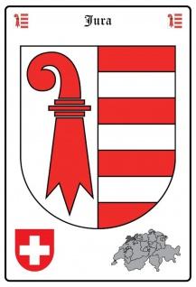 Blechschild Jura Wappen Metallschild Wanddeko 20x30 cm tin sign