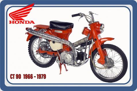 Honda CT90 1966-1979 8.7PS motorrad, motor bike, motorcycle blechschild