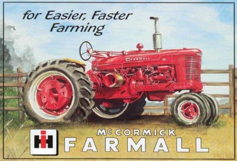 McCormick Farmall rote traktor trekker schlepper blechschild