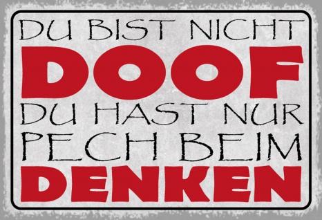 Blechschild Spruch Du bist nicht doof ...Metallschild 20x30 Deko tin sign