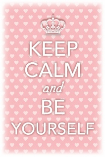 Keep Calm and Be Yourself Blechschild 20x30 cm