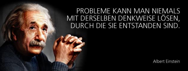 Blechschild Spruch Probleme kann man niemals mit derselben Denkweise lösen, durch die sie entstanden sind. -Einstein- Metallschild 27x10 cm Wanddeko tin sign