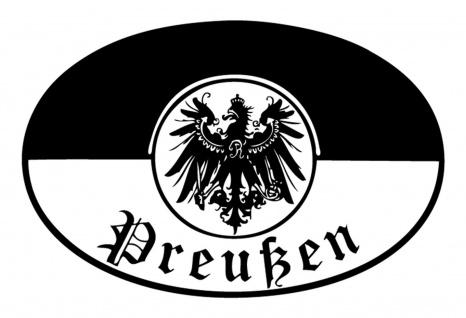 Blechschild Preußen Wappen Metallschild Wanddeko 20x30 cm tin sign