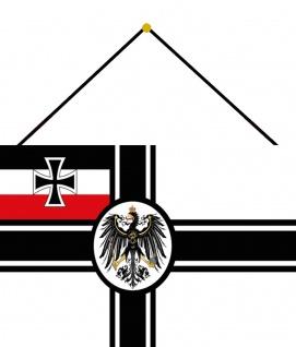 Blechschild Flagge Deutschland Adler Metallschild Wanddeko 20x30 cm mit Kordel