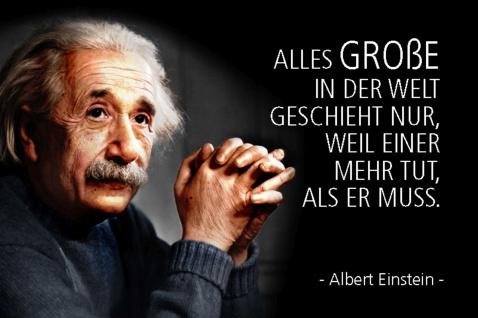 Blechschild Spruch Einstein Alles Große in der Welt Metallschild Wanddeko 20x30 cm tin sign