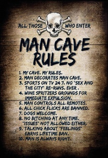 All those who enter: Man Cave Rules Blechschild 20x30 cm