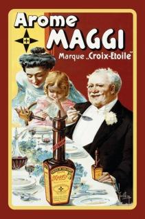 Maggi Arome französiches reklame blechschild