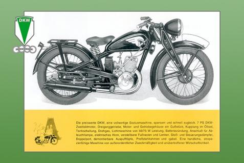 DKW KS 200 1939 7PS reklame motorrad, motor bike, motorcycle blechschild