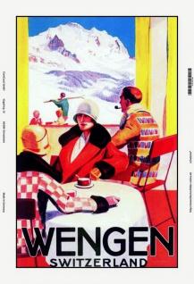 Nostalgie: Wengen / Schweiz Blechschild 20x30 cm