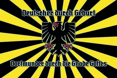 Deutscher durch Geburt, Dortmunder durch die Gnade Gottes Blechschild 20x30 cm