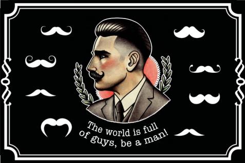 """"""" The world is full of guys, be a man!"""" sei ein mann spruchschild, blechschild, lustig, vintage, nostalgie"""
