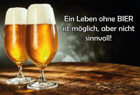 Blechschild Spruch Ein Leben ohne Bier... Metallschild Wanddeko 20x30 cm tin sign