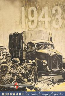 Borgward bundeswehr auto nostalgie wehrmacht 1943 blechschild