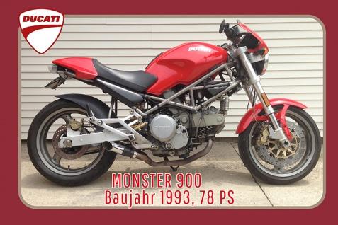 Ducati Monster 900 1993 78PS motorrad, motor bike, motorcycle blechschild