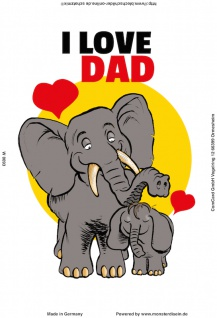 Blechschild I love Dad Metallschild Wanddeko 20x30 cm tin sign