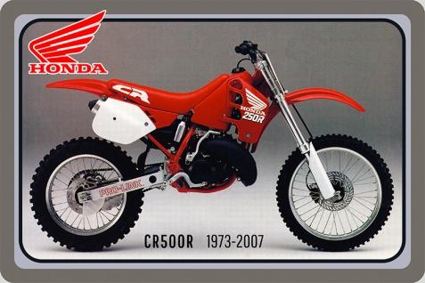 Honda CR500R 1973-2007 58PS motorrad, motor bike, motorcycle blechschild