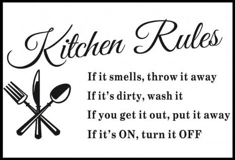 Kitchen Rules   If It Smells, Throw It Away Lustig Küche Regeln Blechschild