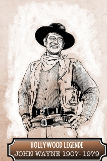 Blechschild Spruch Hollywood Legende John Wayne 19071979 Metallschild Wanddeko 20x30 cm tin sign