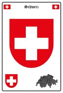 Schweiz wappen blechschild