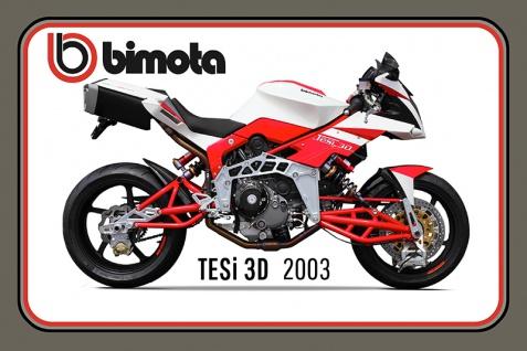 Bimota Tesi 3D 2003 90PS motorrad, motor bike, motorcycle blechschild