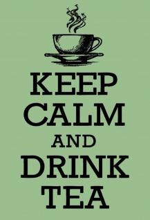 Keep Calm and Drink Tea Metallschild Wanddeko 20x30 cm tin sign