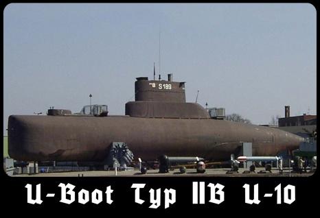 Blechschild U-Boot Typ IIB U-10 Metallschild 20x30 cm Wanddeko tin sign