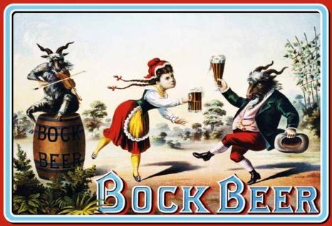Bock Beer tanzenden bock mit mädchen bier blechschild