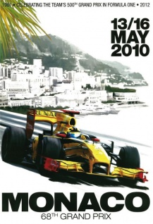Monaco 68th Grand Prix 2010 Blechschild 20x30 cm