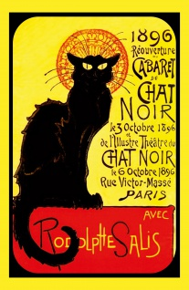 Nostalgie: Cabaret du chat noire 1896 Blechschild 20x30 cm