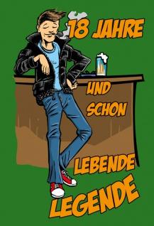 """"""" 18 Jahre und Schon Lebende Legende"""" - blechschild, spruchschild, lustig, comic, metallschild, dekoschild"""
