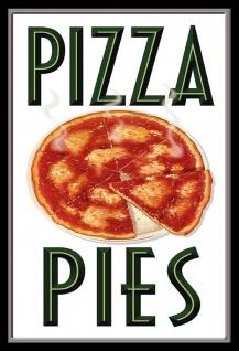 Pizza Pies Metallschild Wanddeko 20x30 cm tin sign