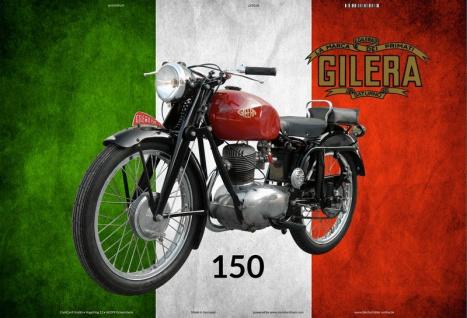 Gilera 150 Italien motorrad blechschild