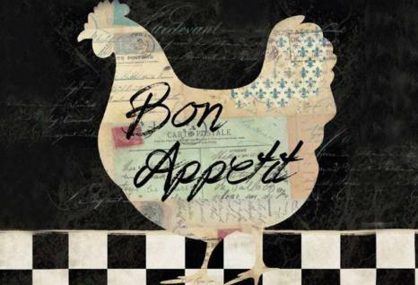 Bon Appetit (Huhn) Blechschild 20x30 cm